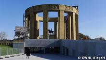 Erster Weltkrieg Flandern - König Albert Denkmal Nieuwpoort, Belgien, erinnert an die Flandern-Schlachten im Ersten Weltkrieg und die Flutung Westflanderns zur Abwehr deutscher Truppen am 28.10.1914. Aufgenommen am 27.10.2014.Foto: Bernd Riegert, DW.