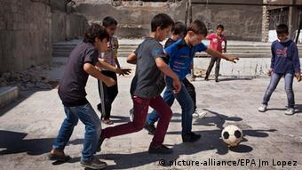 Syrien Fußball Kinder Straße Aleppo