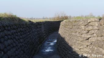 A World War I trench in Belgium