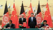 Der chinesische Präsident Xi Jinping mit dem afghanischen Präsidenten Ashraf Ghani Ahmadzai