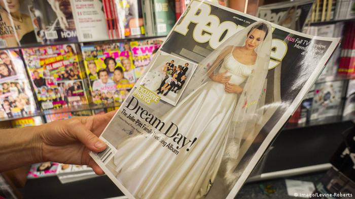 Angelina Jolie and Brad Pitt marriage photos in People magazine