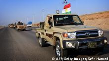 Peschmerga Kämpfer aus Erbil auf dem Weg nach Kobane 28.10.2014