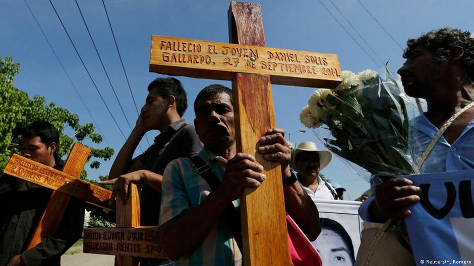 Protestas contra la desaparición de los 43 estudiantes de Ayotzinapa.