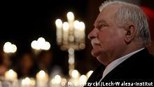 Beschreibung: Lech Walesa, früherer Arbeiterführer und Ex-Präsident Polens Datum: 22.10.2013 Ort: unbekannt Quelle: M. Biedrzycki /Lech-Walesa-Institut