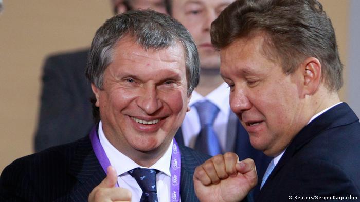 Глава Роснефти Игорь Сечин и руководитель Газпрома Алексей Миллер