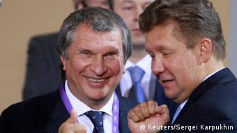 Главы Роснефти и Газпрома Игорь Сечин и Алексей Миллер