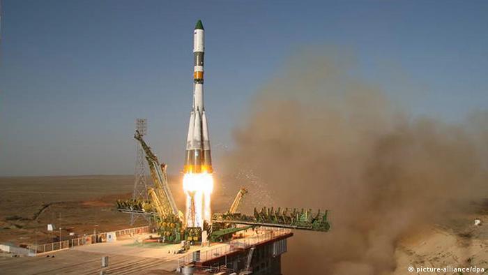 Запуск ракеты-носителя Союз-У с Байконура