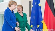 Bundeskanzlerin Angela Merkel und die Präsidentin der Republik Chile Michelle Bachelet