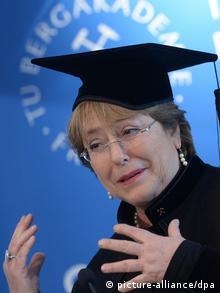Bachelet recibió un honoris causa en Freiberg.