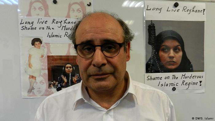 فریبرز جباری، عموی ریحانه جباری در نشست خبری در برلین
