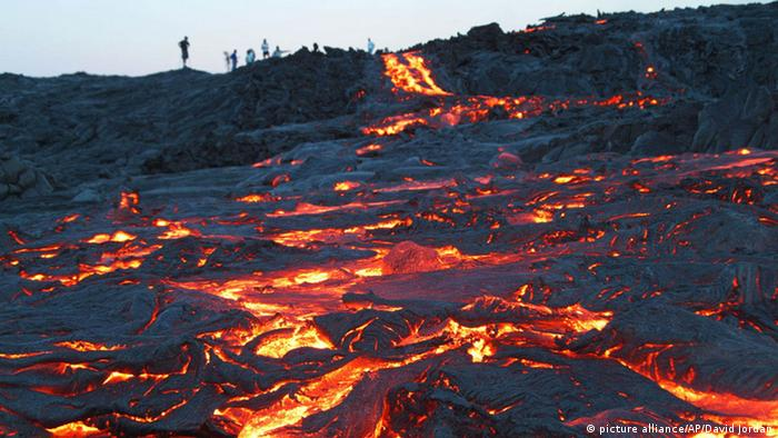 Hawaii lava stream from Kilauea