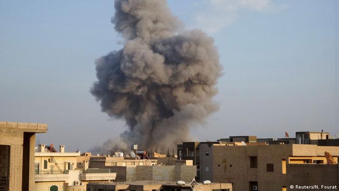Syrien US-geführter Luftschlag gegen IS in Rakka 29.10.2014