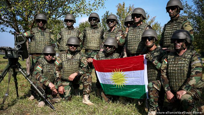 Kurdish solders trained by the Bundeswehr