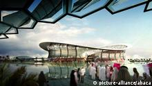 A computer image of the 'Lusail' stadium, designed by Biritish architect Norman Foster, to be built in Lusail, Qatar, for the FIFA World Cup 2022. Photo by Balkis Press/ABACAUSA.COM
