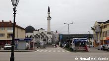 Kalesija, Bosnien und Herzegowina, Das Zentrum der kleine Stadt Kalesija in nord Bosnien. Autor: Nenad Velickovic Oktober 2014