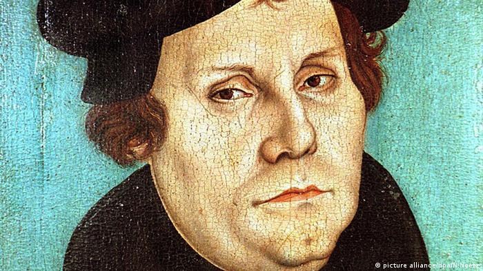Pintura de Lutero feita por Lukas Cranach, o Velho