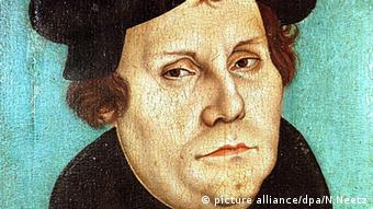Painting of Martin Luther by Lucas Cranach, the Elder, 1528 (picture alliance/dpa/N.Neetz)