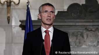 NATO Jens Stoltenberg PK in Athen 30.10.2014 (Foto: Reuters)