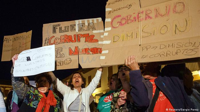 Korruptionsfälle in Valdemoro Spanien - Protest 27.10.2014