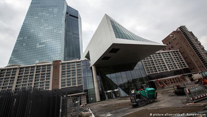 ECB construction site in Frankfurt