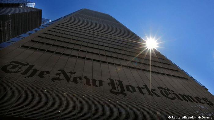 Gebäude der New York Times in New York (Foto: Reuters/Brendan McDermid)