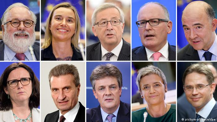 EU-Kommission unter Jean-Claude Juncker (picture-alliance/dpa)