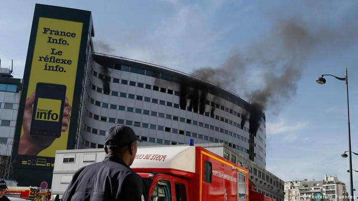 Fire at Maison de Radio in Paris