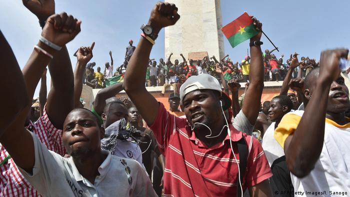 Protestors in Burkina Faso