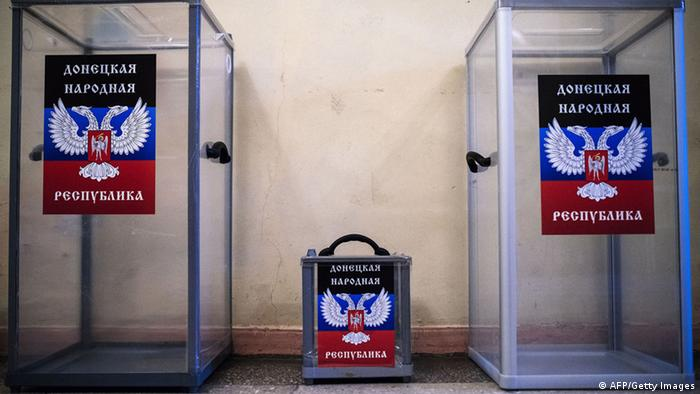 Ballot boxes in eastern Ukraine. (Photo: AFP PHOTO / DIMITAR DILKOFF)