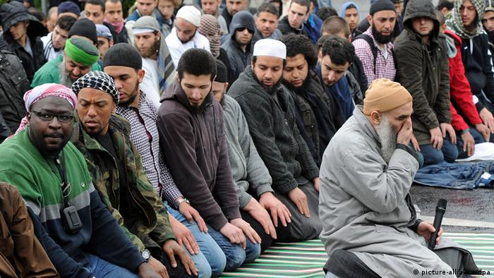 Молящиеся мусульмане в Германии