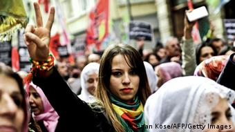 Pro-kurdische Demonstration in Istanbul 01.11.2014