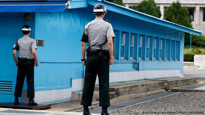 Grenze zwischen Nordkorea und Südkorea in Panmunjom - Foto: Jeon Heon-Kyun (EPA)