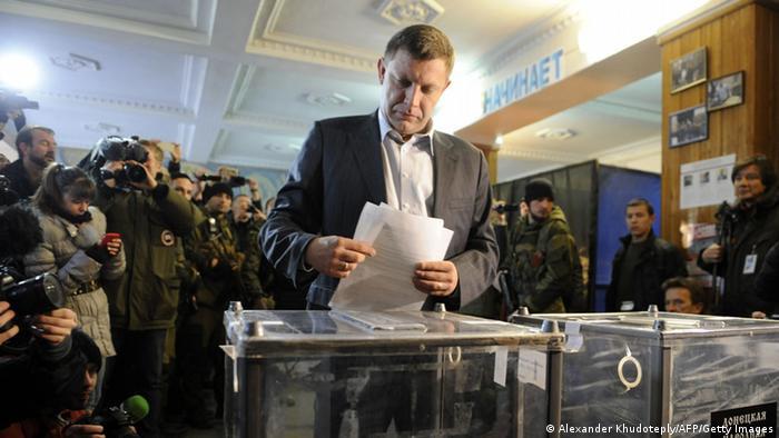 Alexander Sachartschenko Donezk Wahlen Ostukraine 02.11.2014
