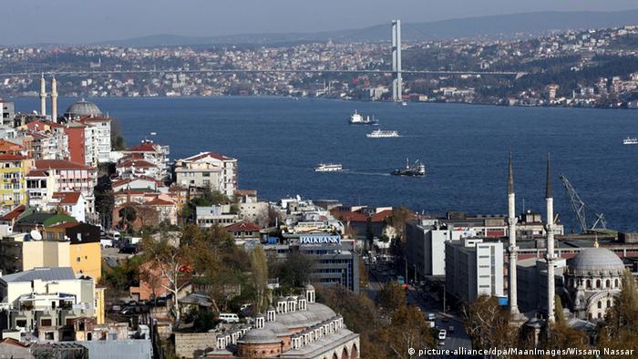 Вид на Стамбул и Босфорский пролив