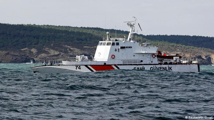 Turkish coast guard boat