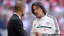 Bayern München Guardiola und Müller-Wohlfahrt streiten sich