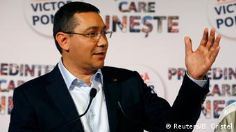 Victor Ponta speaks at a public engagement