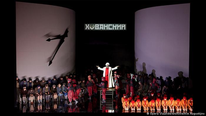 Сцена из оперы Хованщина в Антверпене