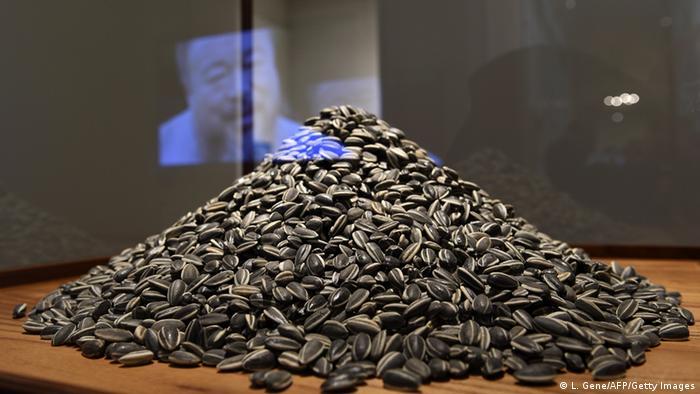 Ai Weiwei's porcelain sunflowers at La Virreina Image Centre (Barcelona)