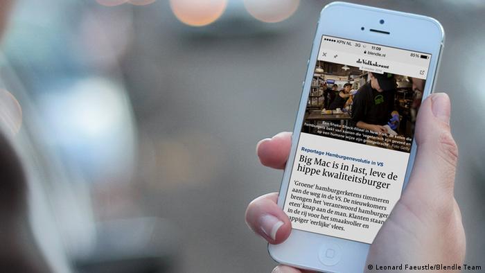Blendle Digital Kiosk Niederlande Mobile Reader