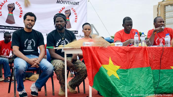 Members of Burkina Faso's civic organization Balai Citoyen.