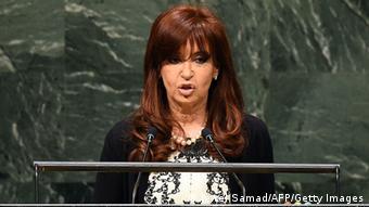 Η πρόεδρος της Αργεντινής Κριστίνα Φερνάντες δεν δίστασε πέρυσι να κάνει λόγο ενώπιον των ΗΕ για «γύπες» και «οικονομική τρομοκρατία»