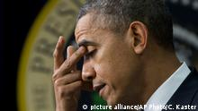 President Barack Obama pauses as he speaks about the new health care law during a White House Youth Summit, Wednesday, Dec. 4, 2013, in the South Court Auditorium in the Eisenhower Executive Office Building on the White House complex in Washington. (AP Photo/Carolyn Kaster) pixel