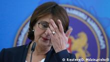 Georgia's Foreign Minister Maya Panjikidze attends a news briefing in Tbilisi, November 5, 2014. Panjikidze resigned on Wednesday, one day after an ally was dismissed as defense minister. REUTERS/David Mdzinarishvili (GEORGIA - Tags: POLITICS MILITARY)