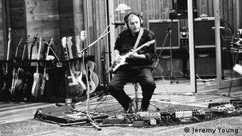 David Gilmour, pictured in a 1993 recording session