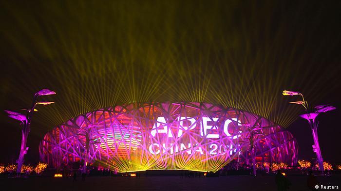 China Asiatisch-Pazifische Wirtschaftsgemeinschaft APEC Treffen in Peking