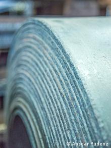Eine Rolle mit fertigen warmgewalztem Stahl aus einer Warmwalzanlage der Salzgitter AG (Foto: Ansgar Pudenz/ Deutscher Zukunftspreis)