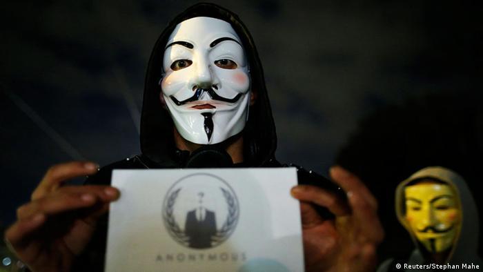 Человек в маске движения Anonymous