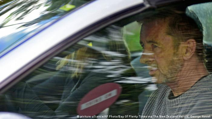 Phil Rudd, the drummer for rock band AC/DC, leaves a court house in Tauranga, New Zealand, Thursday, Nov. 6, 2014, after being charged with attempting to procure murder. (AP Photo/Bay Of Plenty Times via The New Zealand Herald, George Novak)