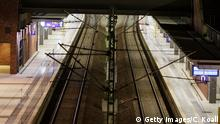 BERLIN, GERMANY - NOVEMBER 06: An empty platform is seen during the strike at S-Bahn station Gesundbrunnen during a four-day strike by the GDL train drivers labor union on November 6, 2014 in Berlin, Germany. The current strike, which affects passenger travel nationwide from today through Sunday, is the longest in the history of German state rail carrier Deutsche Bahn, which is in an increasingly bitter dispute over wages and working hours with the GDL. (Photo by Carsten Koall/Getty Images)